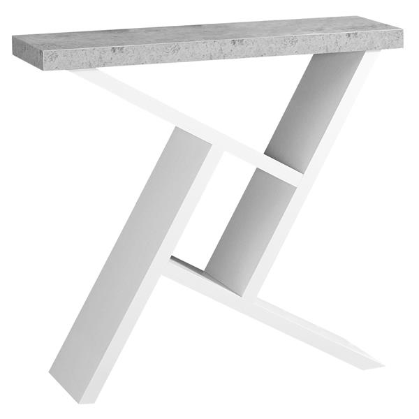 Monarch 35.5-in x 34-in White Composite Accent Table
