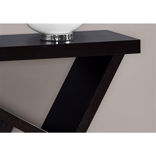 Monarch 35.5-in Brown Composite Accent Table