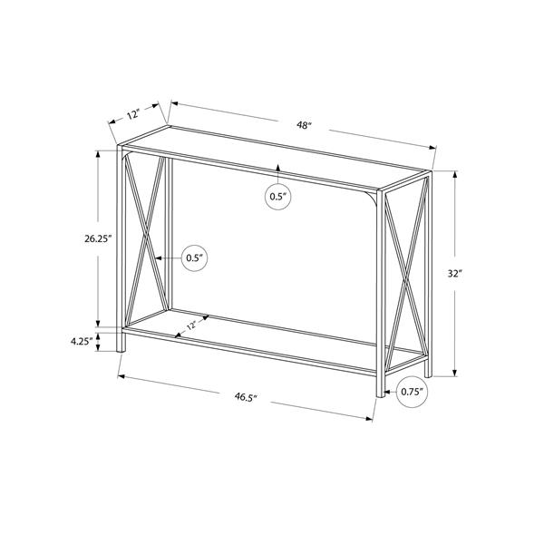 Monarch 48-in x 32-in White Composite Accent Table