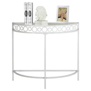 Monarch 36-in White Glass Accent Table