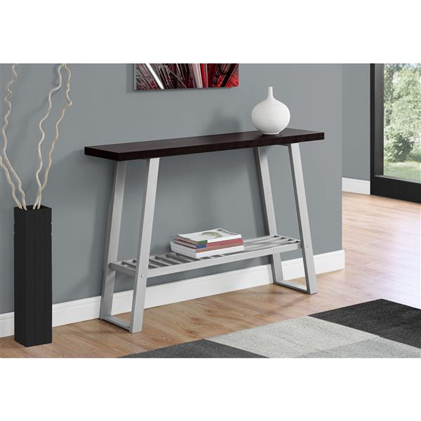 Monarch 47.25-in Brown Composite Accent Table