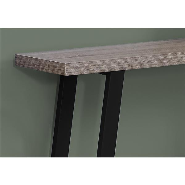 "Table d'appoint Monarch, 47,25"" x 32"", composite, brun"