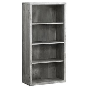 Monarch 23.75 x 47.5-in Wood Gray Bookcase