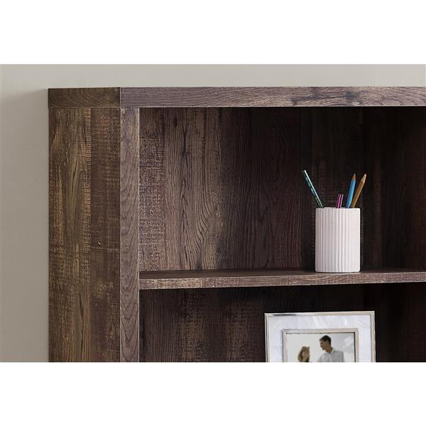 Monarch 23.75 x 47.5-in Wood Brown Bookcase