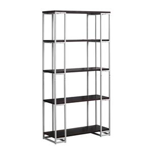 Monarch 62-in x 32-in x 12.50 Metal Cappacino Bookcase