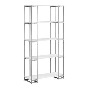 Monarch 62-in x 32-in x 12.5-in White Bookcase