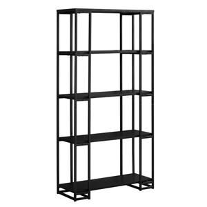 Monarch 61-in x 32-in x 12.5-in Black Metal Bookcase