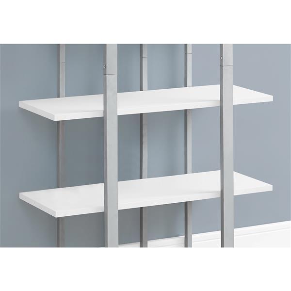 Monarch 32 x 60-in Metal White Bookcase