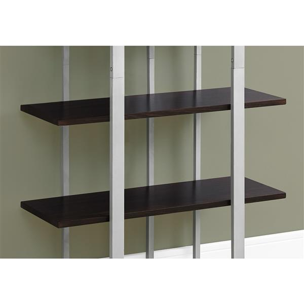 Monarch 32 x 60-in Metal Brown Bookcase