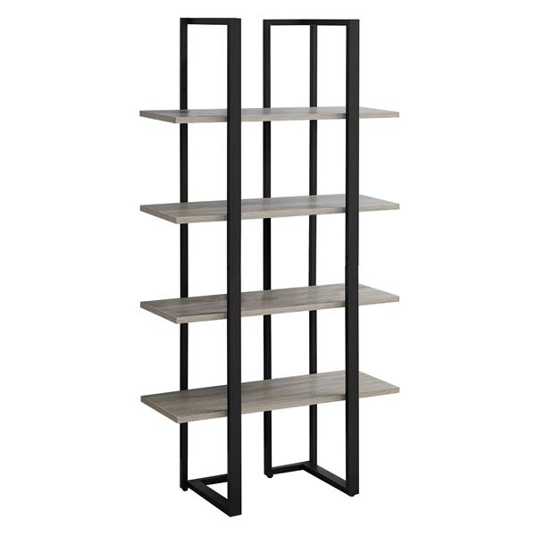 Monarch 60-in x 32-in x 13,25 Dark Taupe Metal Bookcase