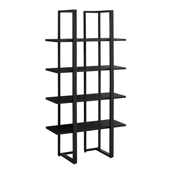 Monarch 32 x 60-in Metal Black Bookcase