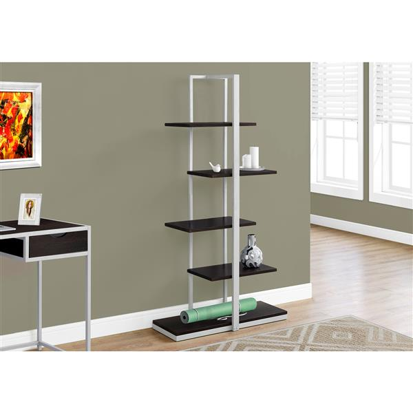 Monarch 60-in x 32-in x 13-in Cappacino Metal Bookcase