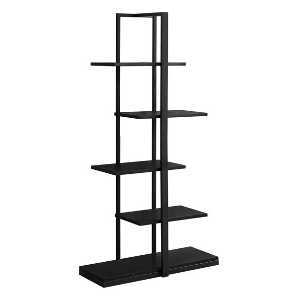 Monarch 60-in x 32-in Black Metal Bookcase