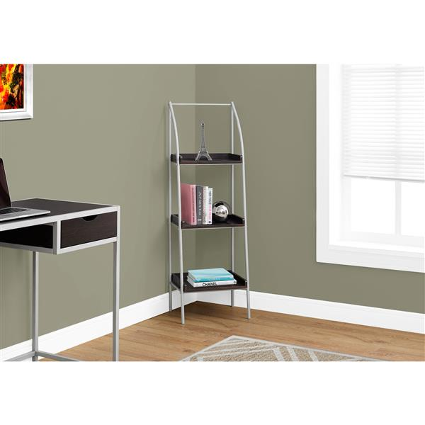 Monarch 16 x 48-in Metal Brown Bookcase