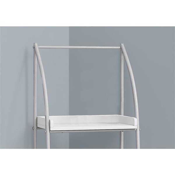 Monarch 16-in x 48-in x 12-in Metal - White Bookcase