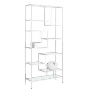 Monarch 72-in x 32-in x 12-in White Metal Bookcase