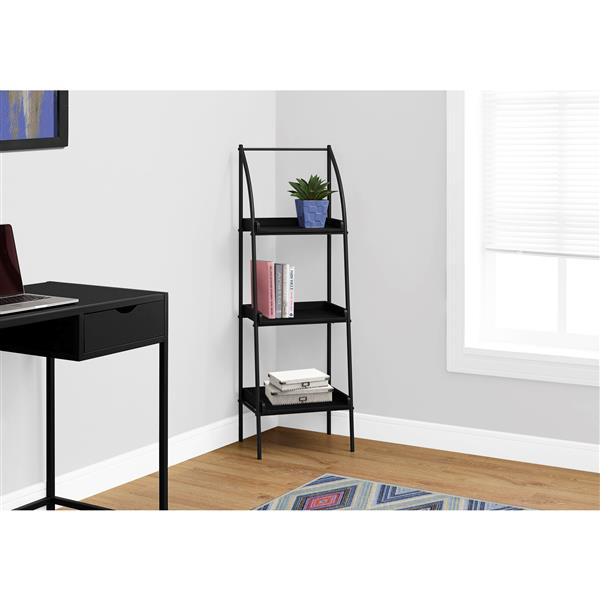 Monarch 16-in x 48-in x 12-in Black Metal Bookcase