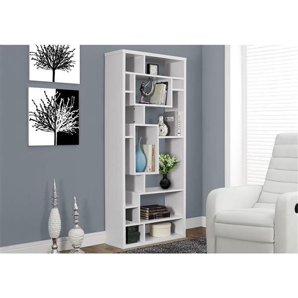 Monarch 72-in x 31.5-in x 11.75-in White Bookcase