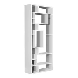"Bibliothèque Monarch, 31,5"" x 72"", bois, blanc"