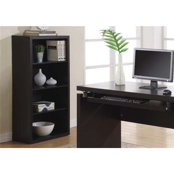Monarch 47.5-in x 23.75-in x 11.75-in Cappacino Wood Bookcase