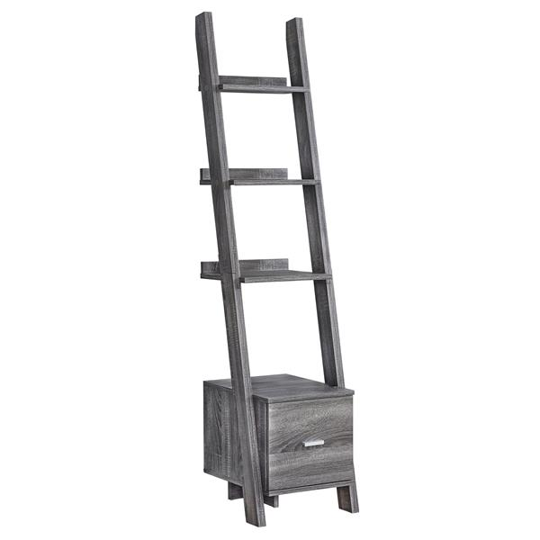 Monarch 16.5-in x 17-in x 69-in Wood Gray Bookcase