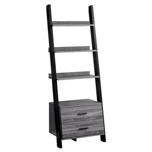 Monarch 69-in x 25.5-in x 16.75-in Gray-Black Reclaimed Wood Look Bookcase