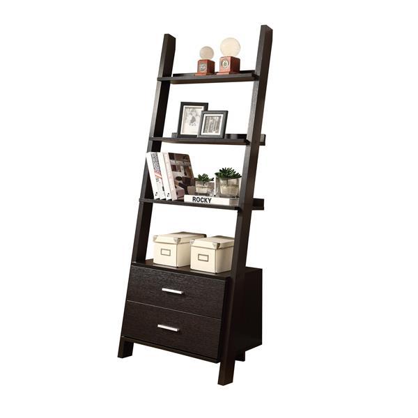 Monarch 25.5 x 69-in Wood Cappuccino Bookcase