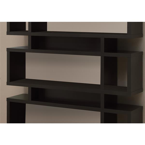 Monarch 47.25 x 54.75-in Wood Brown Bookcase