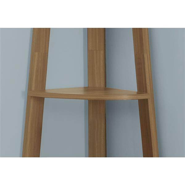 Monarch 22.5 x 71.25-in Wood Walnut Bookcase
