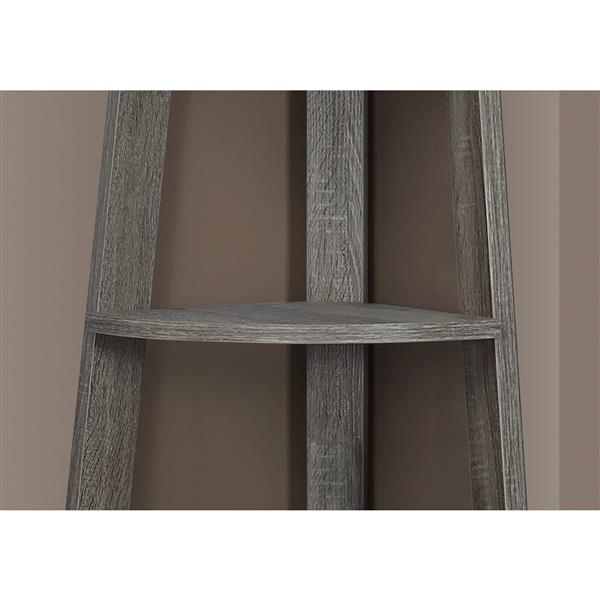 Monarch 22.5-in x 71.25-in Wood Dark Taupe Bookcase
