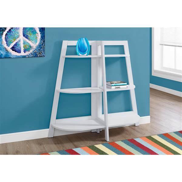 Monarch 51 x 47-in Wood White Bookcase