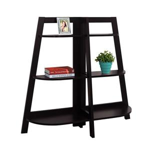 Monarch 51 x 47-in Wood Brown Bookcase