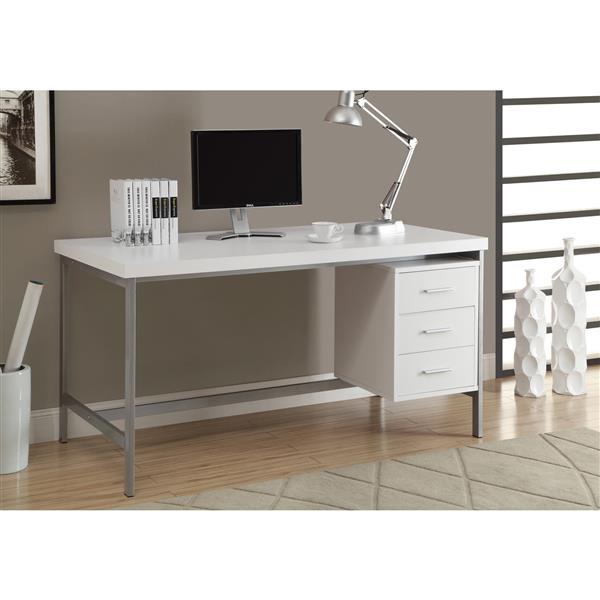 Monarch  60-in x 31-in White Office Desk