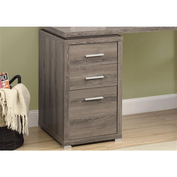 Monarch Specialties 60-in x 29-in Dark Taupe Left or Right Facing Corner Desk