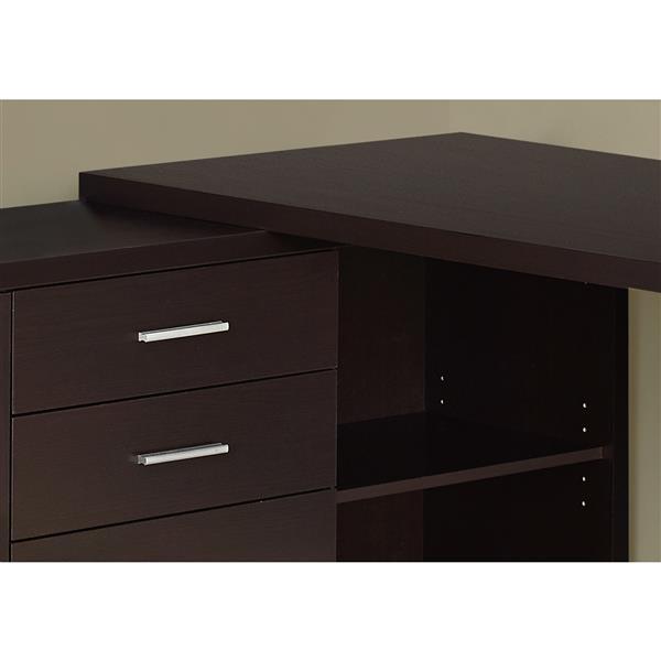 Monarch Specialties Monarch 57.00-In x 29.75-In Dark Brown Computer Desk