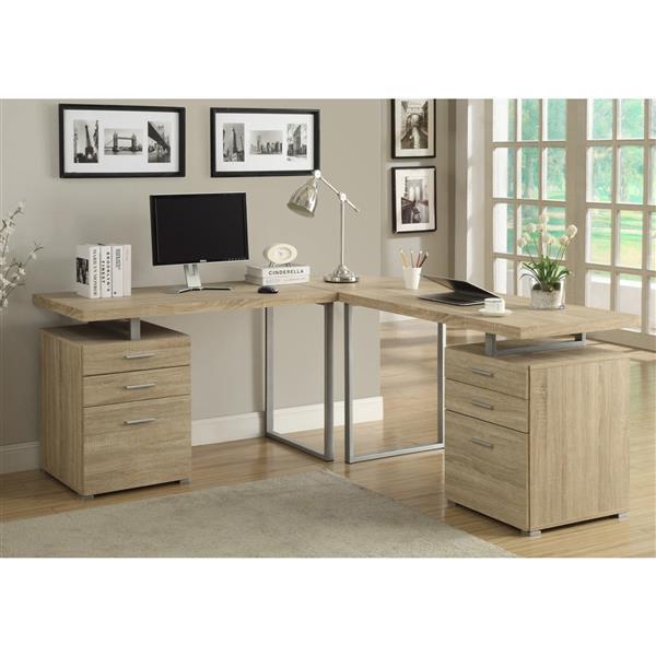 Monarch Computer Desk - 47.25-in - Metal - Off-white