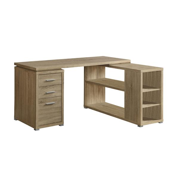 Monarch Specialties 6-in x 29-in Natural Reclaimed Left or Right Facing Corner Desk