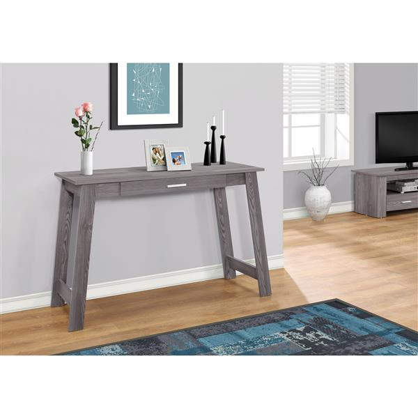 "Bureau d'ordinateur Monarch, 42"" x 29,25"", bois, gris"