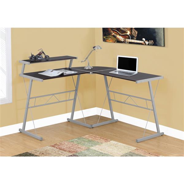 Monarch 48.25-In x 36.75-In Brown Computer Desk