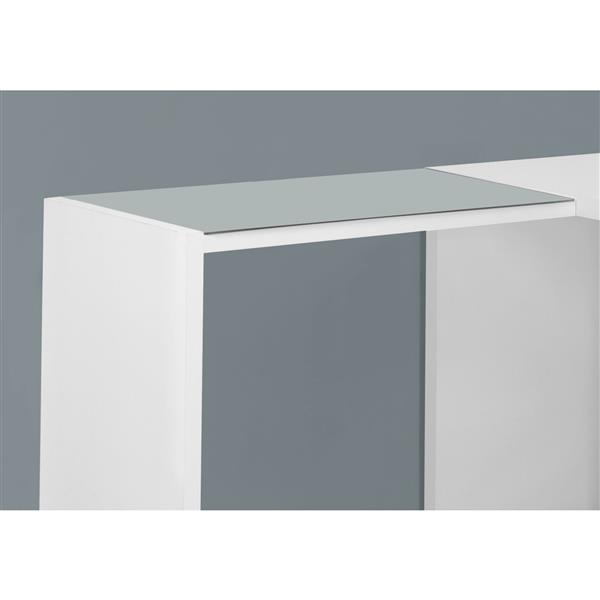 Monarch Specialties 60-in x 30-in White L-Shaped Computer Desk