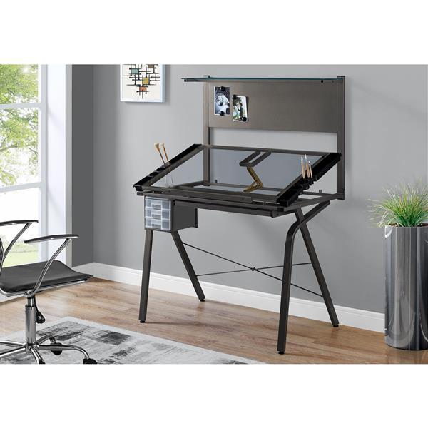 Monarch Specialties Monarch 40.75-In x 55.75-In Grey Computer Desk