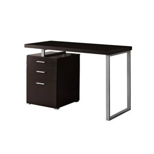 "Bureau d'ordinateur Monarch, 47,25"" x 30"", bois, brun"