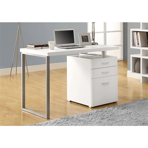 Monarch 47.25-In x 30.00-In White Computer Desk