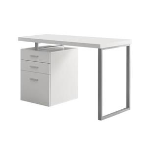 "Bureau d'ordinateur Monarch, 47,25"" x 30"", bois, blanc"