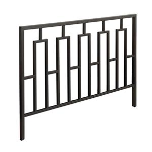 Tête de lit Monarch, métal noir, double ou grand lit