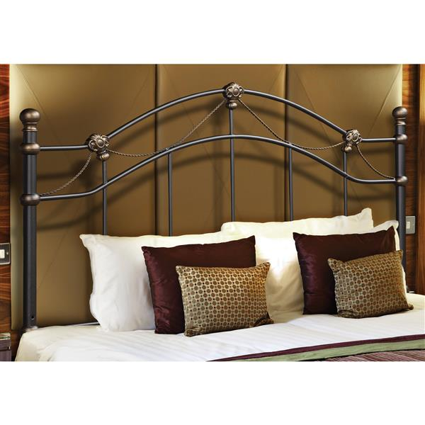 Monarch Specialties  60-in x 50.5-in Metal Black Headboard