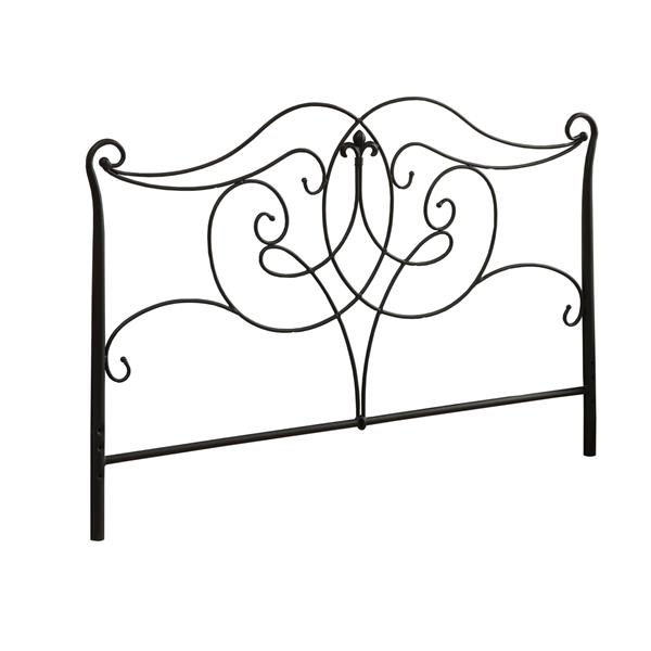 Monarch  61.5-in x 50-in Metal Black Headboard