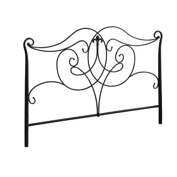 """Tête de lit Monarch, 61,5"""" x 50"""", métal, noir"""