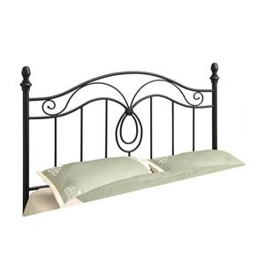 Monarch  60-in x 51.5-in Metal Black Headboard
