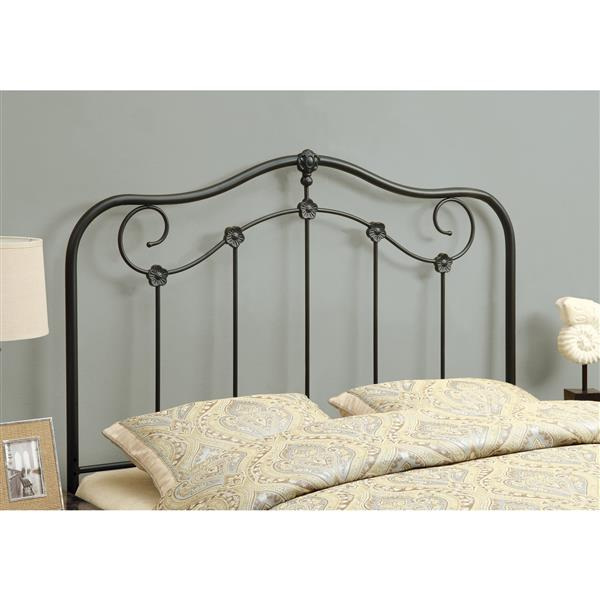 Monarch Specialties 59.75-in x 55-in Metal Coffee Headboard